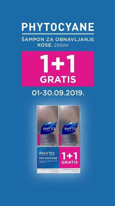 PHYTOCYAN ŠAMPON 1+1GRATIS