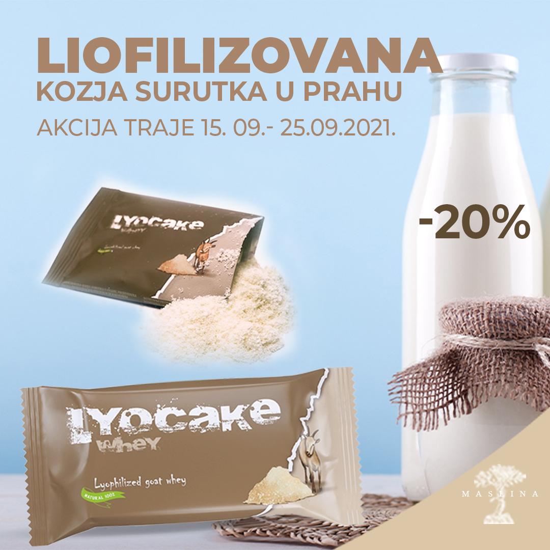 LIOFILIZOVANA KOZJA SURUTKA U PRAHU AKCIJA -20%