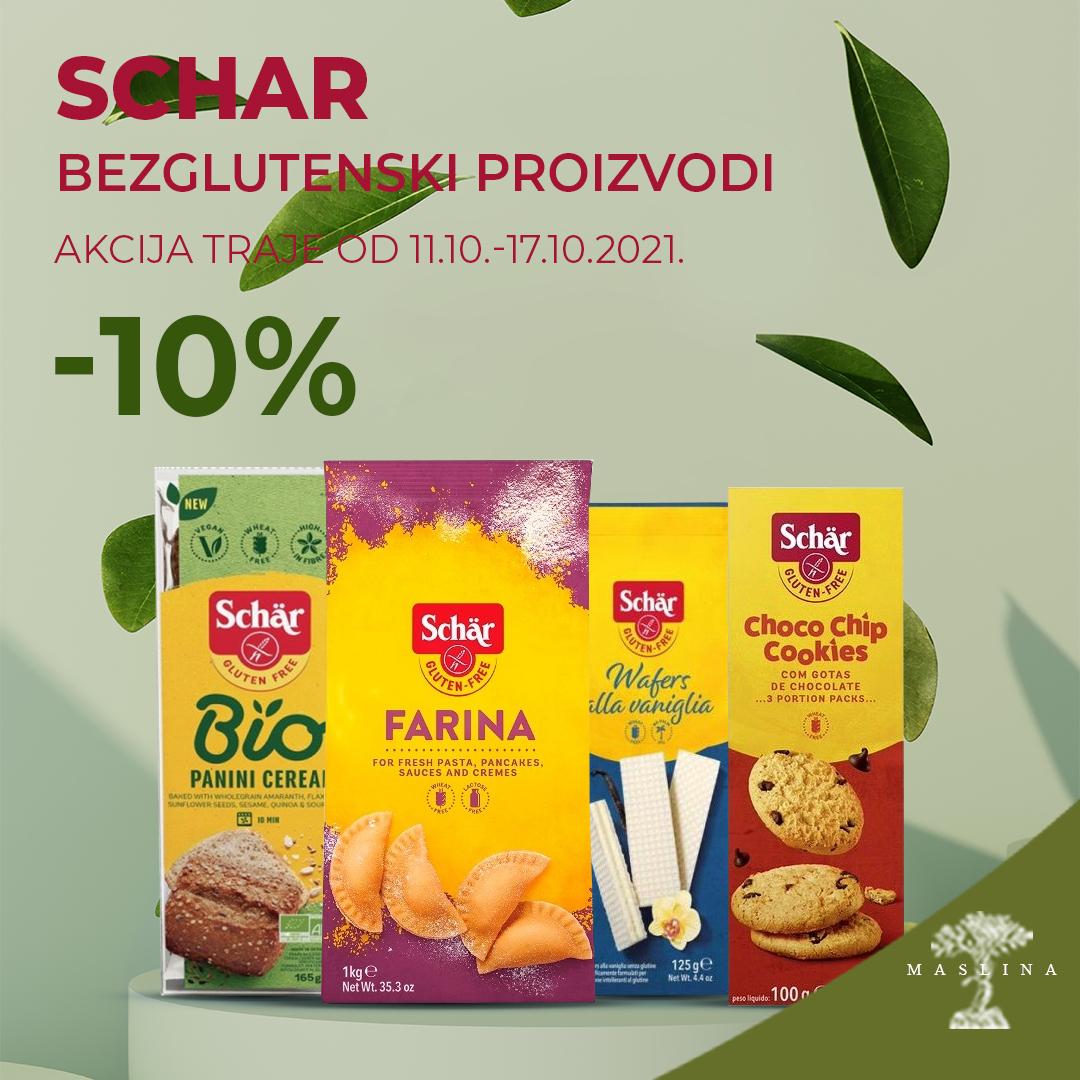 SCHAR  POPUST -10% NA PROIZVODE BEZ GLUTENA