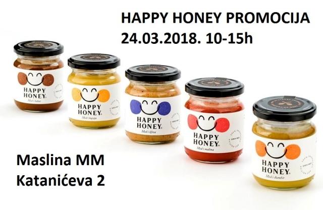 PROMOCIJA I DEGUSTACIJA  SIROVOG MEDA SA DODACIMA - HAPPY HONEY