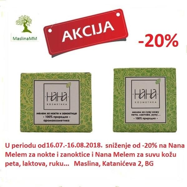 NANA KOZMETIKA- MELEMI ZA NOKTE I NEGU RUKU POPUST -20%