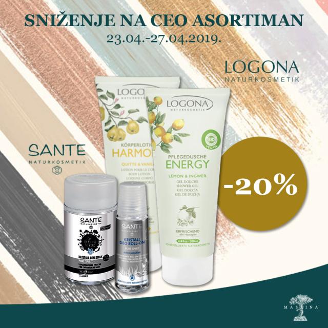 LOGONA I SANTE DANI POPUST -20%