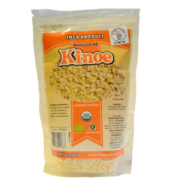 Organske  pahuljice od kinoe bez glutena Inca Product 250g