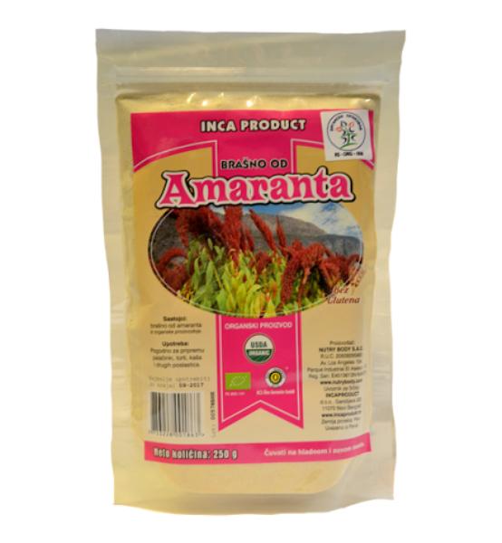 Organsko brašno od amaranta bez glutena Inca Product 250g