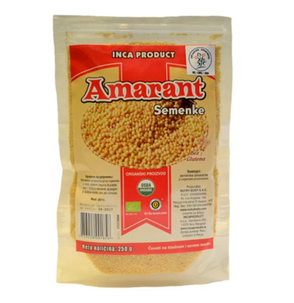 Organski amarant bez glutena Inca Product 250g