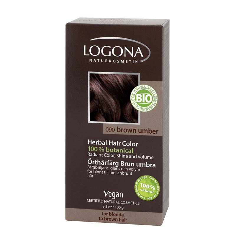 Logona Biljna boja za kosu u prahu Tamno smeđa 100g