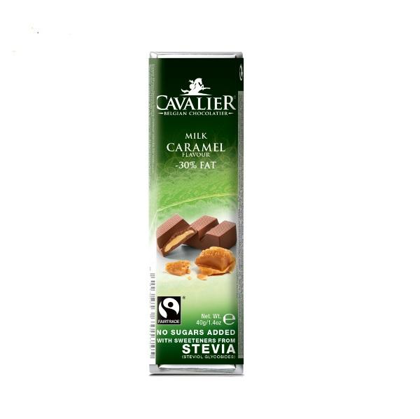 Čokolada mlečna sa karamelom i stevijom Cavalier 40g