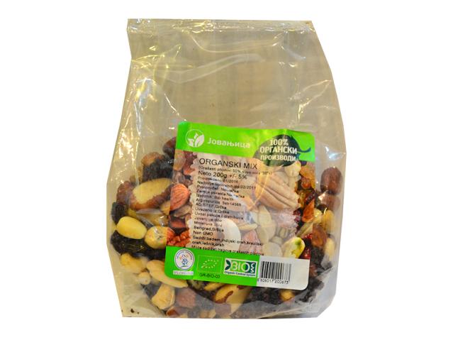 Organski mix orašastih plodova i suvog voća Jovanjica 200g