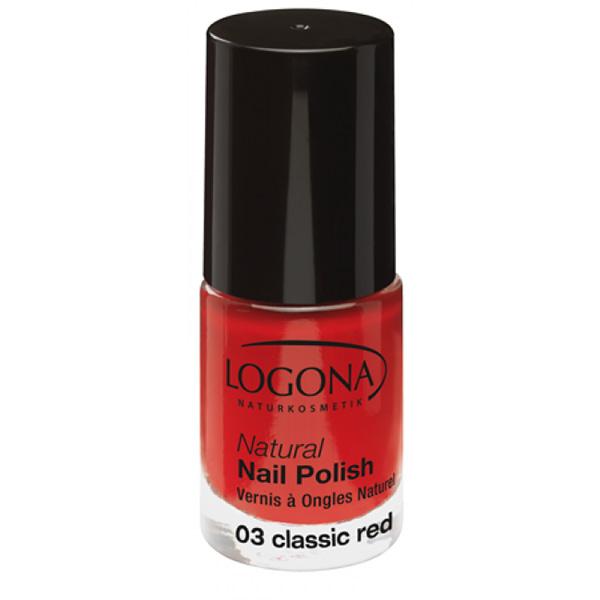 Logona Prirodni lak za nokte 03 - Classic Red 4ml