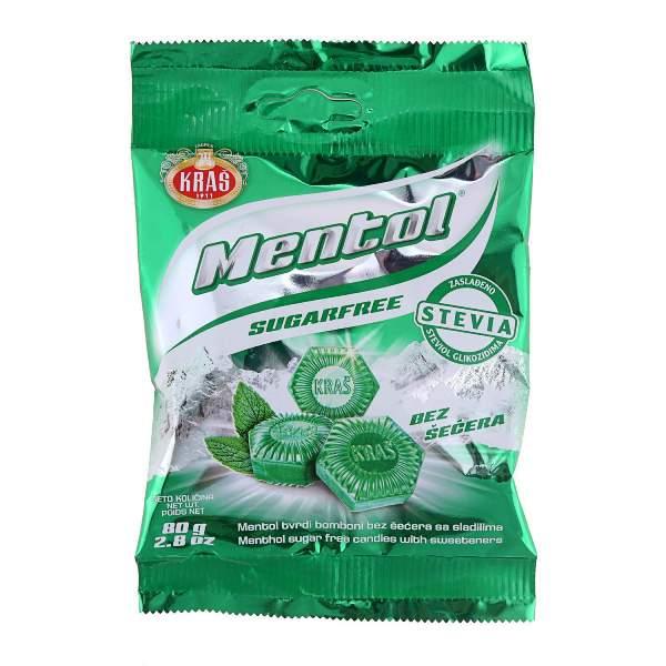 Mentol Bombone bez šećera 80g Kraš