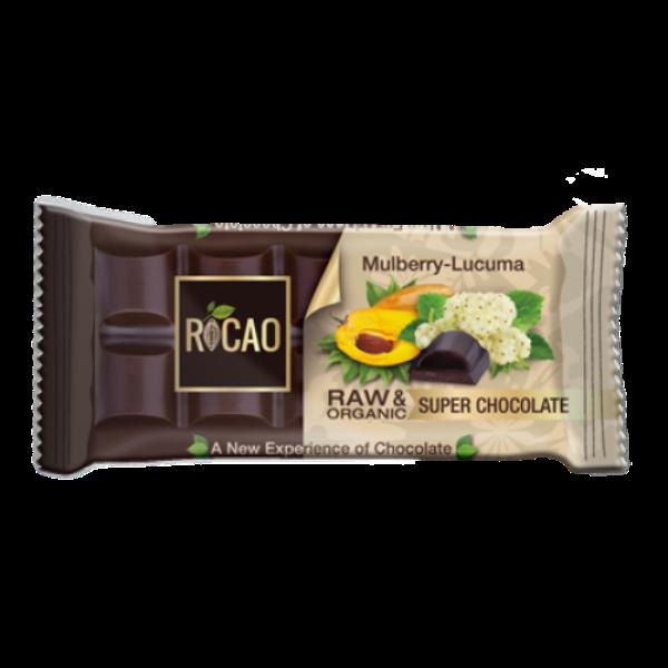 Organska sirova čokolada dud i lukuma Rocao 38g