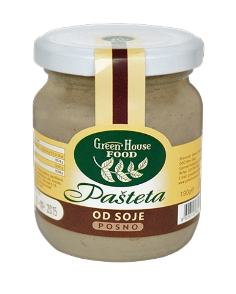 Pašteta od soje Green house food 190g