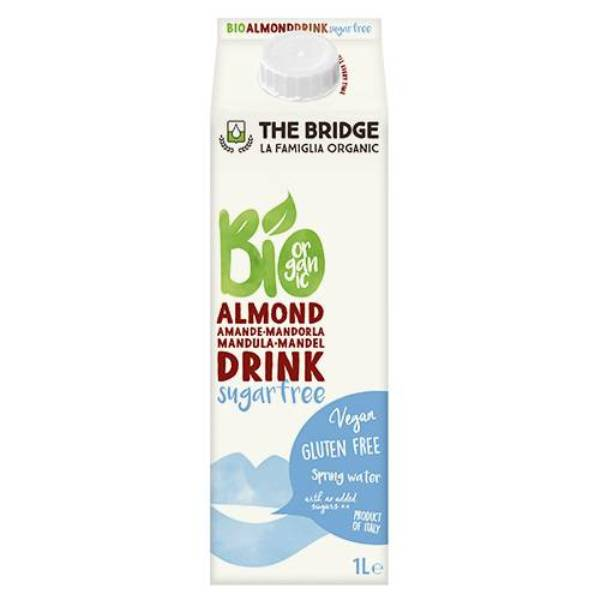 Organski napitak od badema bez šećera The Bridge 1l