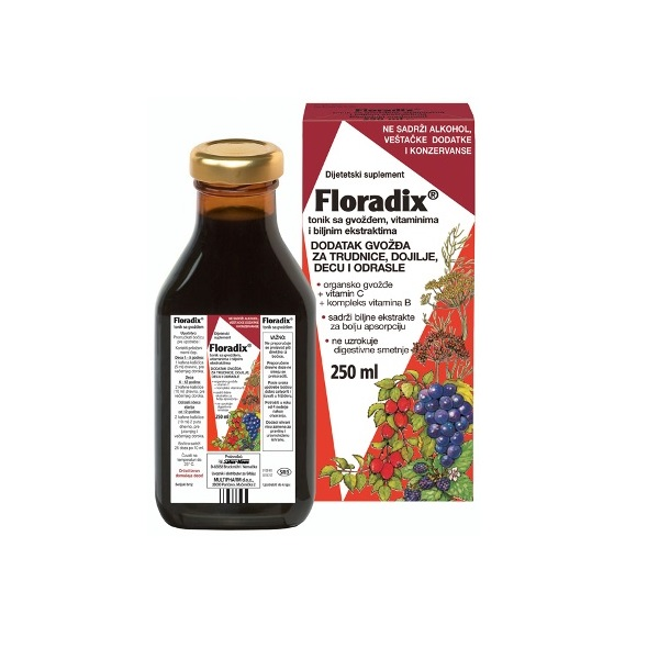 Floradix tonik sa gvožđem 250ml