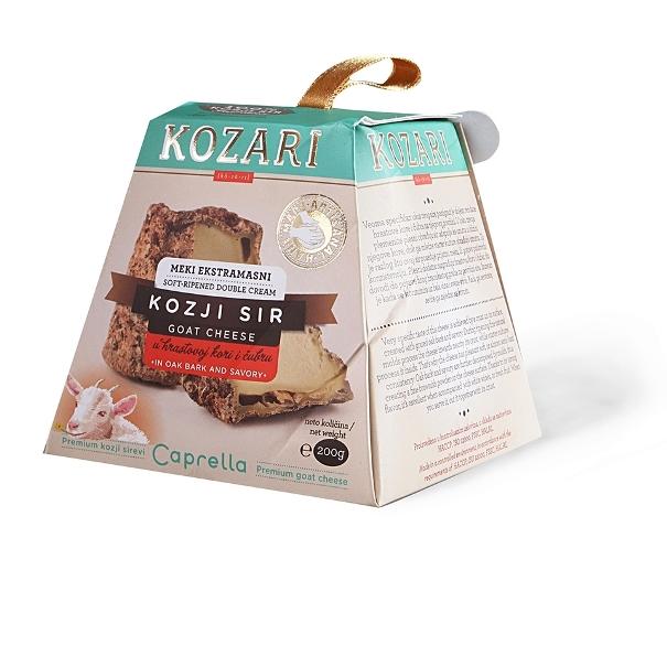 Kozari meki ekstra masni kozji sir u hrastovoj kori i čubru 200g