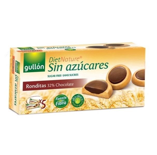 Gullon Ronditas keks sa čokoladnim punjenjem bez šećera 186g