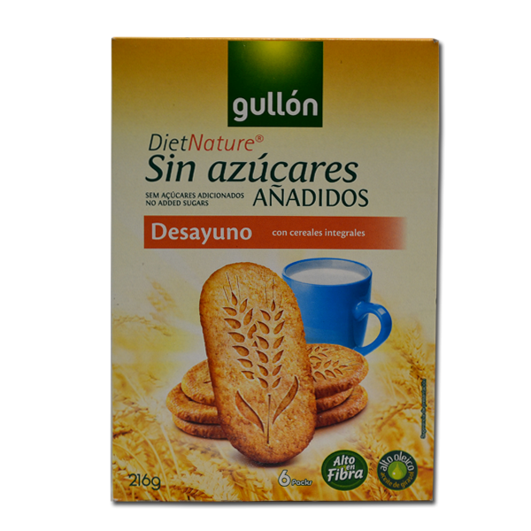 Gullon Desayuno integralni keks  bez šećera 216g