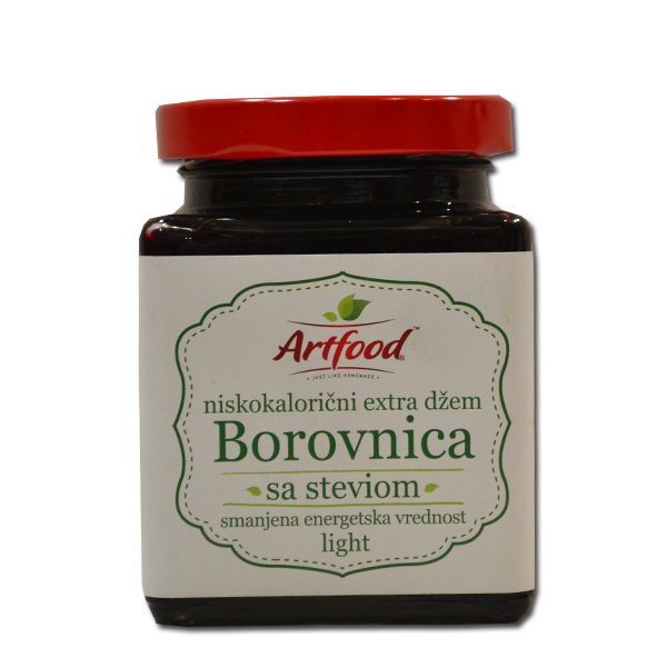 Niskokalorični džem od borovnice sa steviom Atrfood 220g
