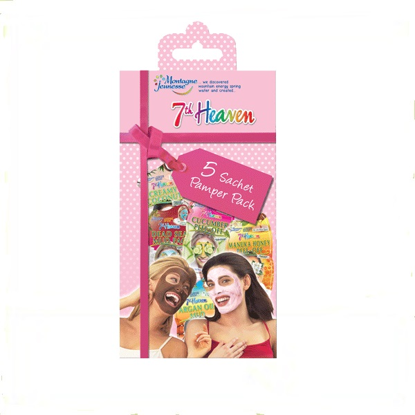 7th HEAVEN pink pamper -pakovanje 5 maski