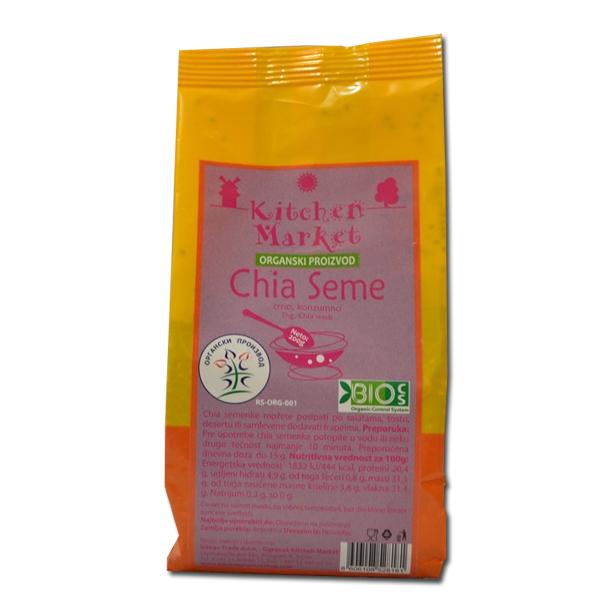Organske chia seme Kitchen Market 200g