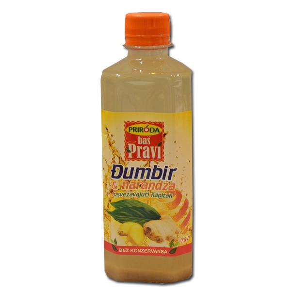 Pravi sok Đumbir i narandža 0,5l