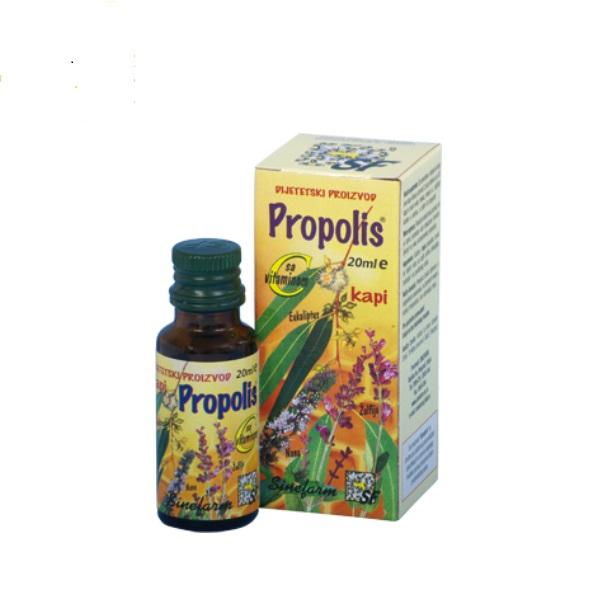 Propolis kapi sa vitaminom C, ekstraktima nane i žalfije i etarskim uljem eukaliptusa 20ml