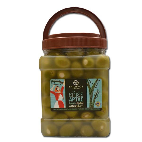 Zelene masline sa bademom 1kg
