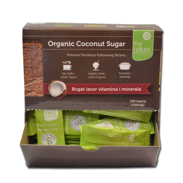 Kokosov šećer organic Fornatura 4g