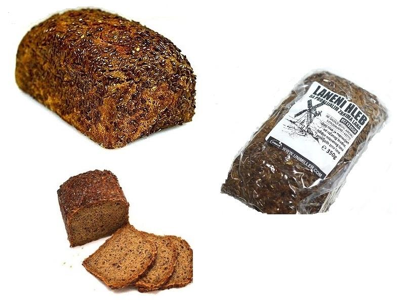 Laneni hleb sa proklijalim zrnima lana  bez kvasca 350g