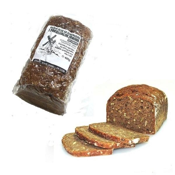 Raženi hleb sa semenkama i proklijalim zrnima raži i ovsa 400g