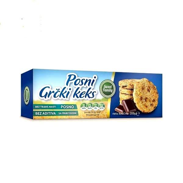 Posni Grčki keks Sweet Family 200g