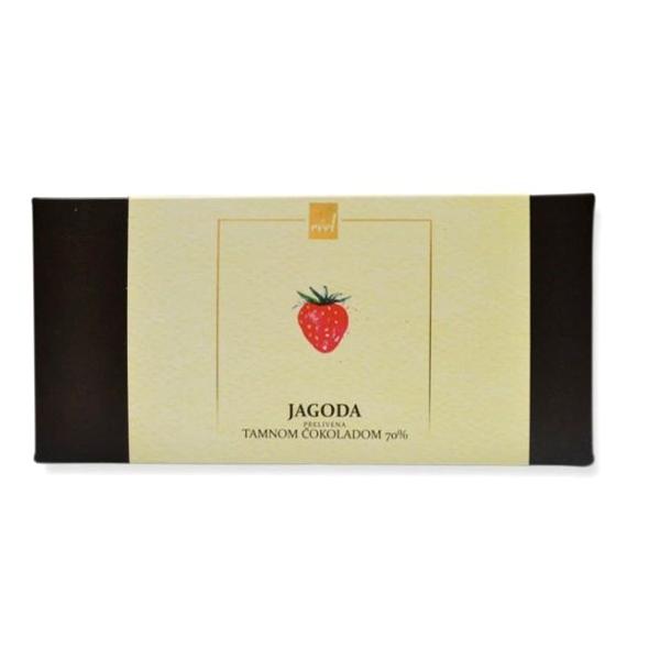 Jagoda prelivena tamnom čokoladom Reel 120g