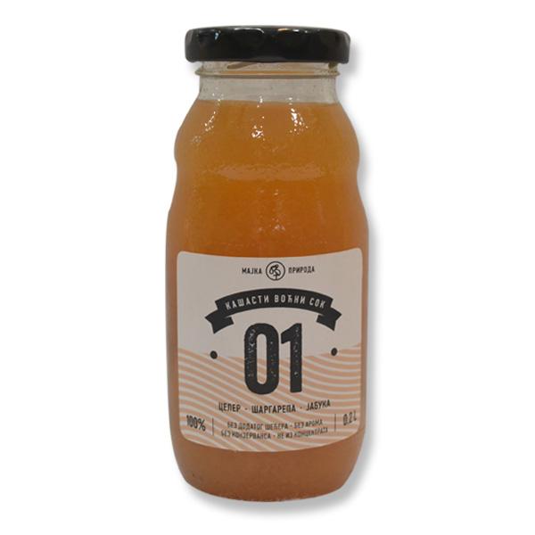 Voćni sok celer, šargarepa, jabuka 01 200ml