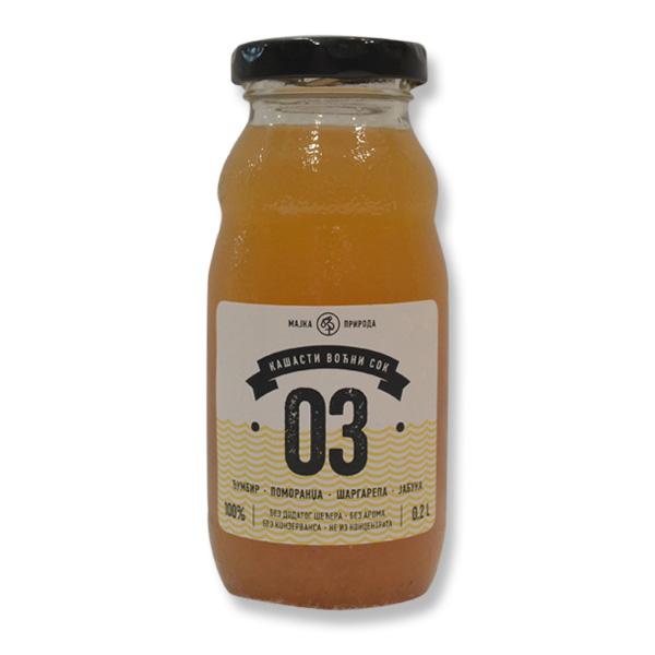 Voćni sok đumbir, pomorandža, šargarepa, jabuka 03 200ml