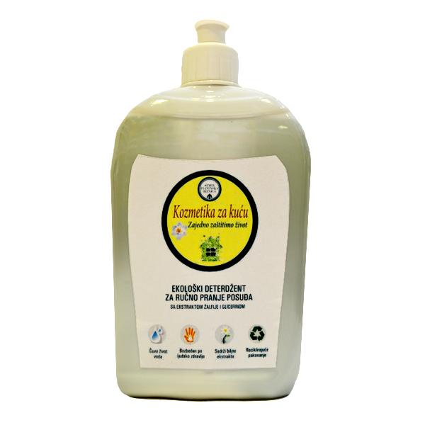 Ekološki deterdžent za ručno pranje posuđa - sa ekstraktom žalfije i glicerinom 500ml