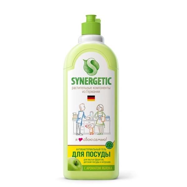 SYNERGETIC Bio gel za ručno pranje posuđa, voća, povrća i dečijih igračaka Jabuka 1l