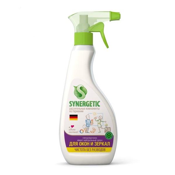 SYNERGETIC Bio preparat za čišćenje prozora i stakala  sa raspršivačem 500ml