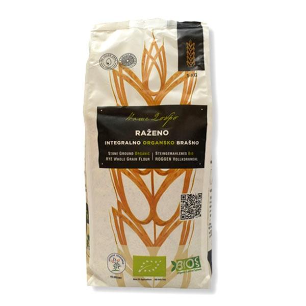 Organsko integralno raženo brašno Naše dobro 1kg