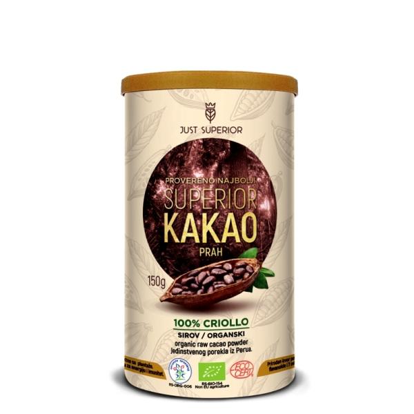 Kakao prah criollo organic Just Superior 150g