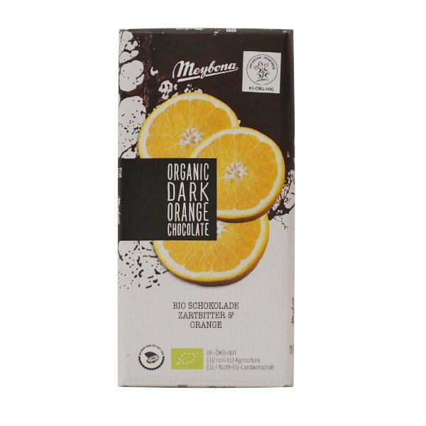 Organska tamna čokolada sa hrskavim ganulama pomorandže Meybona 100g