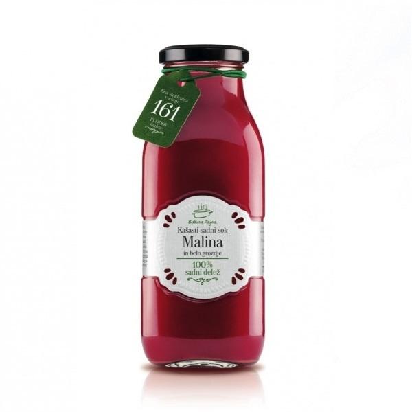 Domaći kašasti voćni sok od maline Bakina tajna 700ml