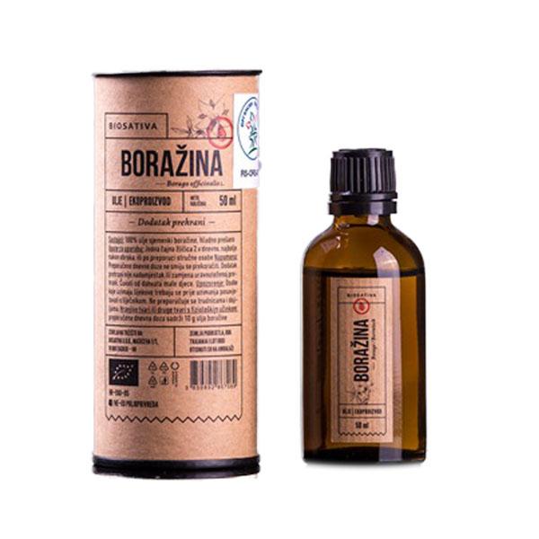Organsko ulje boražine Biosativa 50ml