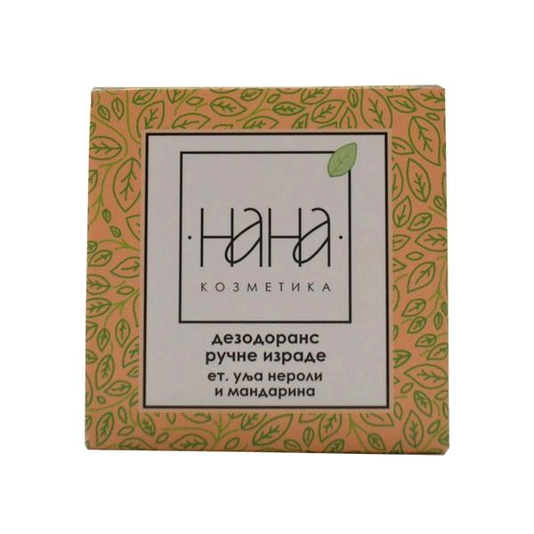NANA kozmetika Dezodorans ručne izrade u kremi et. ulje neroli i mandarina 40ml