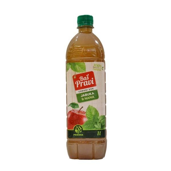 Pravi sok od jabuke i nane 1l