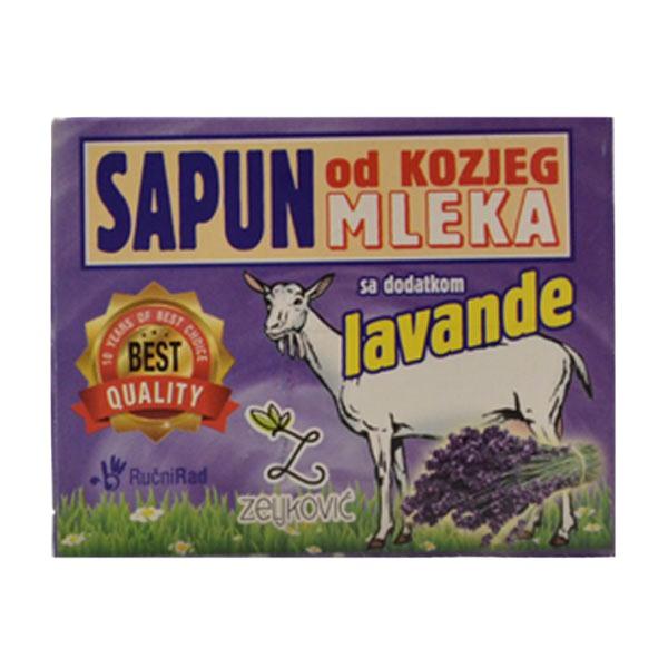 Zeljković  Sapun od kozjeg mleka sa dodatkom cveta lavande 70g
