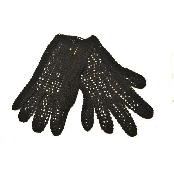 Rukavice  crne pamučne sa prstima