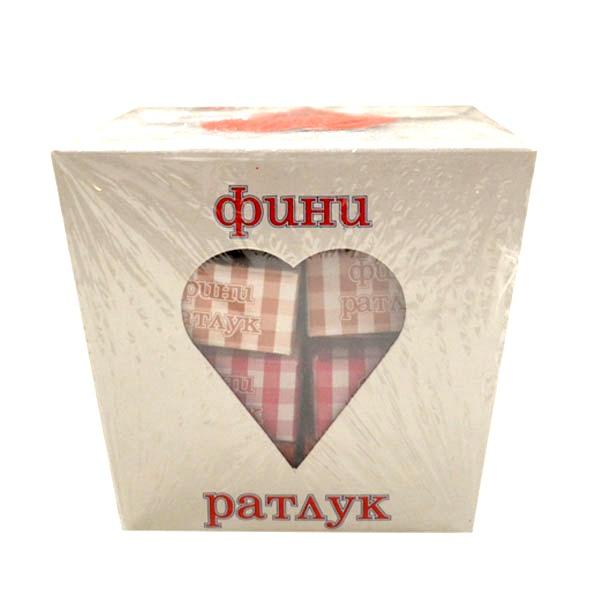 Ratluk Bosiljčić u poklon kutiji srce 250g