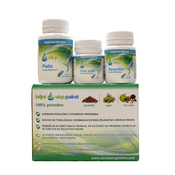 Paket za čišćenje organizma okp