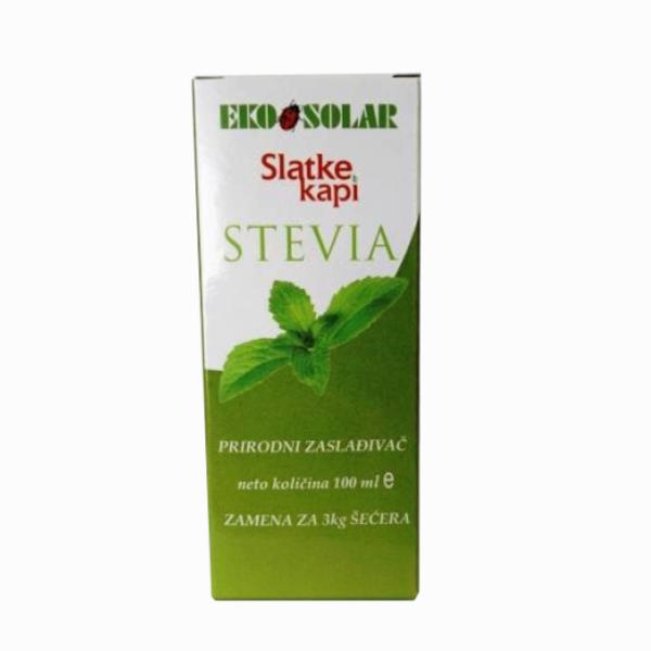 Stevia slatke kapi Eko solar 100ml