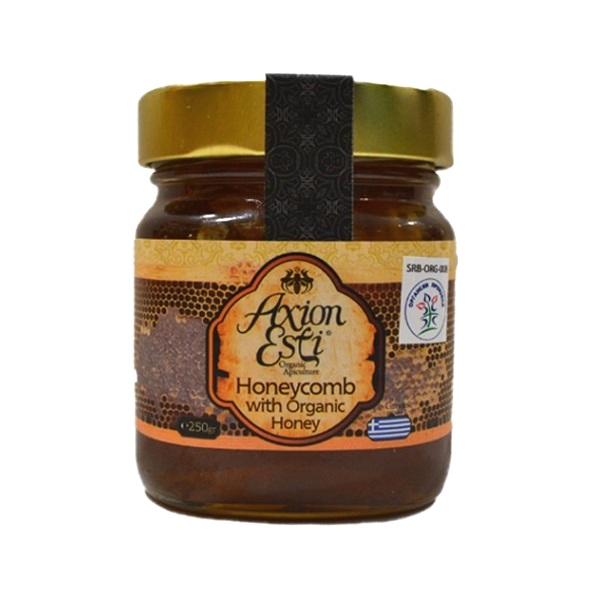 Grčki šumsko-cvetni med sa saćem organic 250g